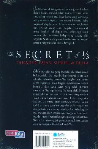 Cover Belakang Buku The Secret of 1/3 Tahajud, Fajar, Subuh dan Duha