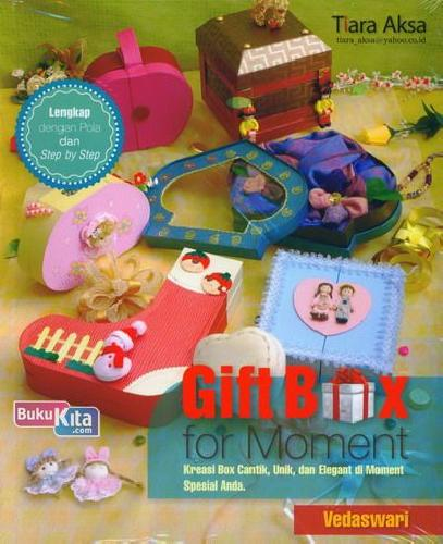 Cover Buku Gift Box For Moment