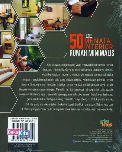 Cover Belakang Buku 50 Ide Menata Interior Rumah Minimalis