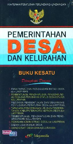 Cover Buku Pemerintahan Desa dan Kelurahan Buku Kesatu (2013)