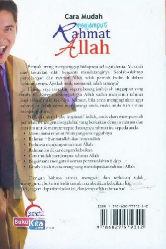 Cover Belakang Buku Cara Mudah Menjemput Rahmat Allah