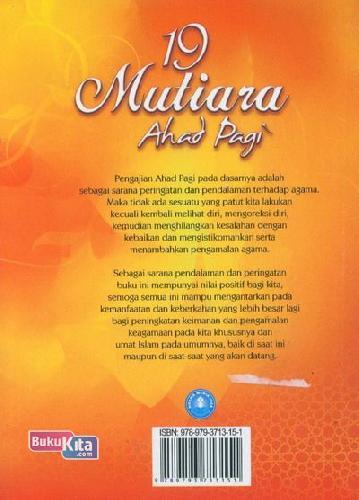 Cover Belakang Buku 19 Mutiara Ahad Pagi