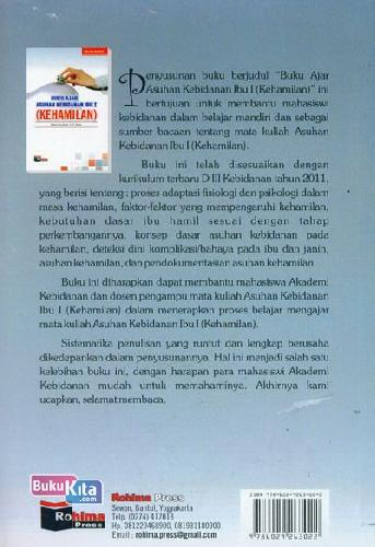Cover Belakang Buku Buku Ajar Asuhan Kebidanan Ibu I (Kehamilan)