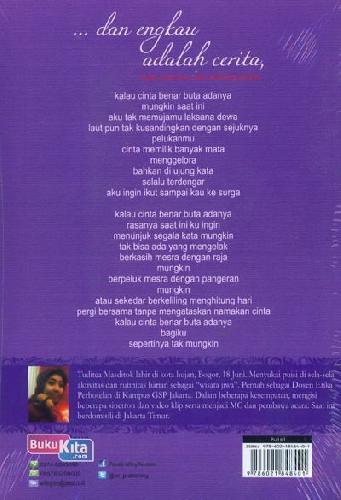 Cover Belakang Buku Dan Engkau adalah Cerita Puisi cinta dan Rindu seorang wanita