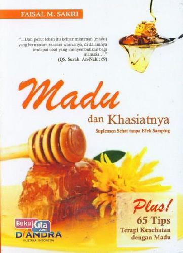 Cover Buku Madu dan Khasiatnya : Suplemen Sehat tanpa Efek Samping