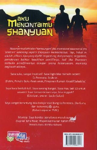 Cover Belakang Buku Aku Mencintaimu Shanyuan
