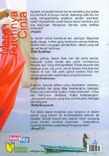 Cover Belakang Buku Merah Putihnya Cinta