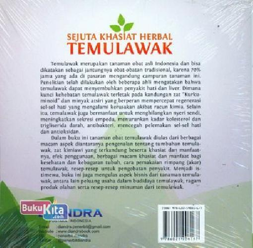 Cover Belakang Buku Sejuta Khasiat Herbal Temulawak : Penangkal Segala Penyakit & Penjaga Stamina Tubuh
