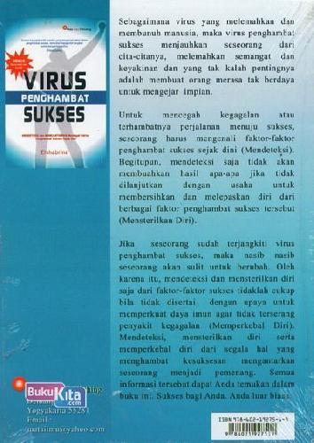 Cover Belakang Buku Virus Penghambat Sukses