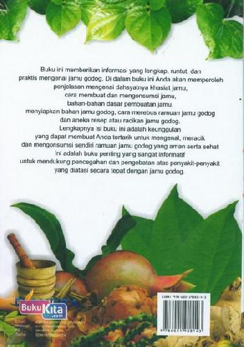 Cover Belakang Buku 1001 Khasiat dan Manfaat Jamu Godog Untuk Segala Macam Penyakit