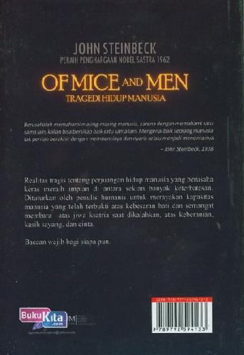 Cover Belakang Buku OF MICE AND MEN : Tragedi Hidup Manusia