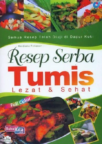 Cover Buku Resep Serba Tumis Lezat dan Sehat (full color)
