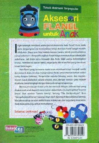 Cover Belakang Buku Aksesori Flanel untuk Anak