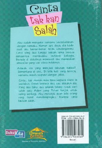 Cover Belakang Buku Cinta tak kan Salah