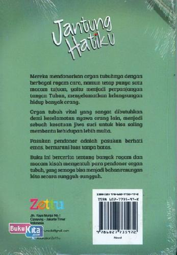Cover Belakang Buku Jantung Hatiku