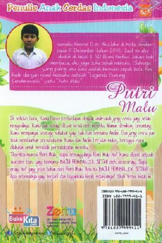Cover Belakang Buku Putri Malu