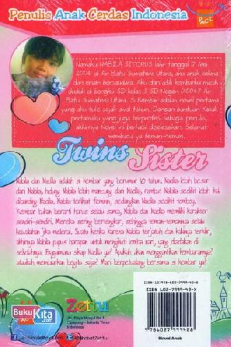 Cover Belakang Buku Twins Sister