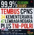 99,9% Dijamin Lulus Tembus CPNS (34 Kementerian dan 47 Lembaga Negara Plus TNI-Polri)