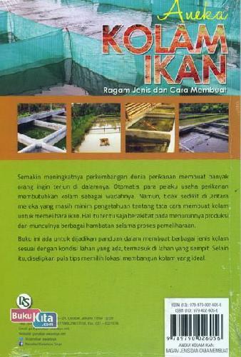 Cover Belakang Buku Aneka Kolam Ikan (Ragam Jenis dan Cara Membuat)