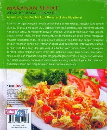 Cover Belakang Buku Makanan Sehat Atasi Berbagai Penyakit