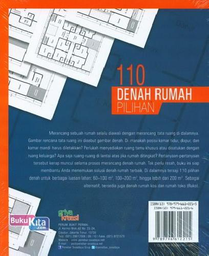 Cover Belakang Buku 110 Denah Rumah Pilihan