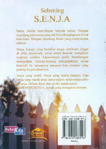 Cover Belakang Buku Sebening Senja