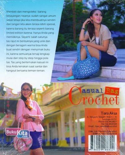 Cover Belakang Buku Casual Bag Crochet