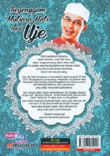 Cover Belakang Buku Segenggam Mutiara Hati dari Uje (Disertai gambar full collor)