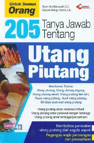 Cover Buku 205 Tanya Jawab Tentang Utang Piutang