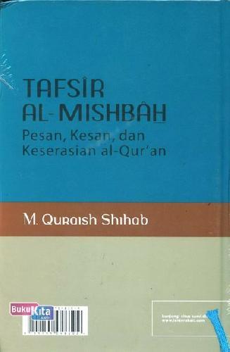 Cover Belakang Buku Tafsir Al-Mishbah volume 2