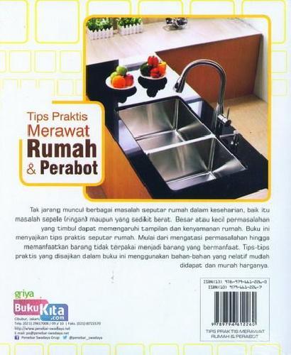 Cover Belakang Buku Tips Praktis Merawat Rumah dan Perabot