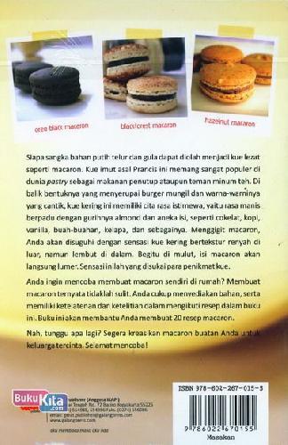Cover Belakang Buku Macaron Kue Manis dari Prancis
