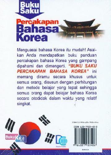 Cover Belakang Buku Buku Saku Percakapan Bahasa Korea