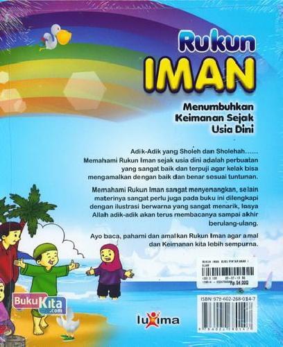 Cover Belakang Buku Rukun Iman (Buku Pintar Anak Islam)