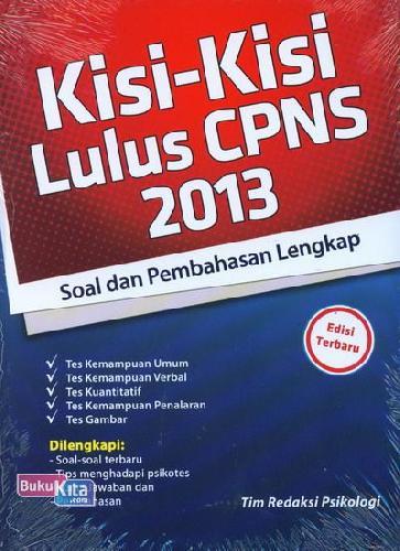 Cover Buku Kisi-Kisi Lulus CPNS 2013 (Soal dan Pembahasan Lengkap) - Edisi Terbaru