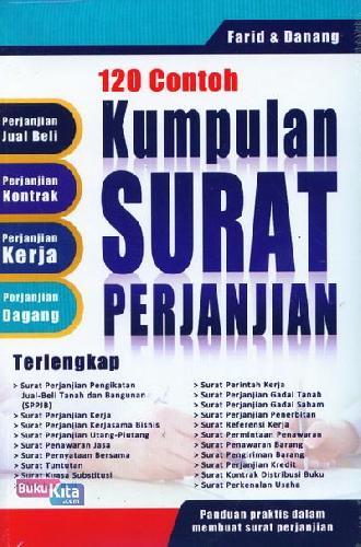 Cover Buku 120 Contoh Kumpulan Surat Perjanjian