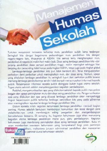 Cover Belakang Buku Manajemen Humas Sekolah