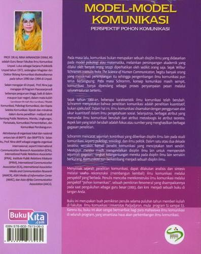 Cover Belakang Buku Model-Model Komunikasi Perspektif Pohon Komunikasi