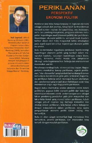 Cover Belakang Buku Periklanan Perspektif Ekonomi Politik