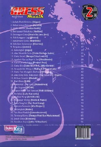 Cover Belakang Buku Gress Musik Not & Chord Vol.2