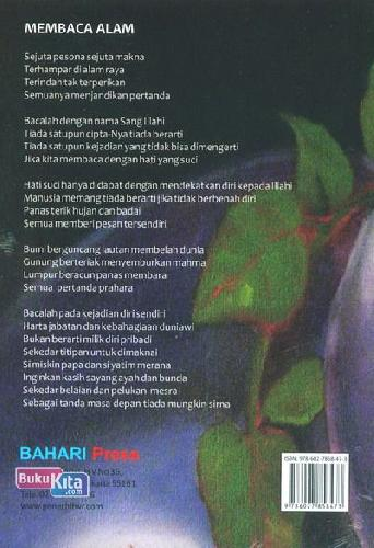 Cover Belakang Buku Kumpulan Puisi Jendela Hati
