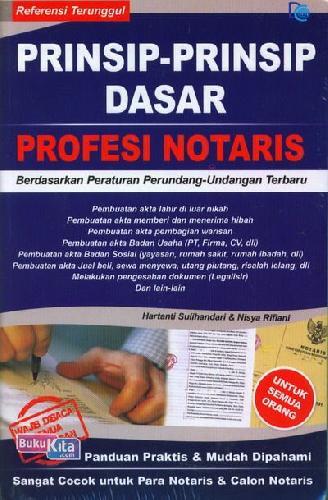 Cover Buku Prinsip-Prinsip Dasar Profesi Notaris