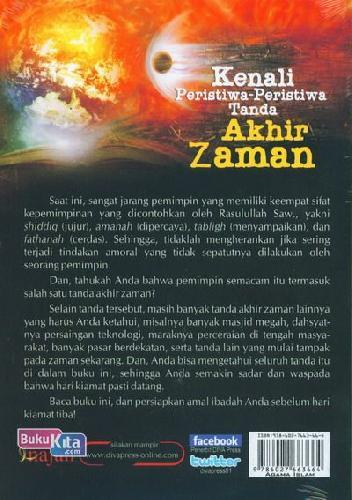 Cover Belakang Buku Kenali Peristiwa-Peristiwa Tanda Akhir Zaman