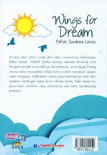 Cover Belakang Buku Wings For Dream Before Sunshine Comes