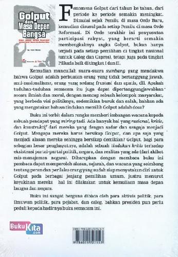 Cover Belakang Buku Golput dan Masa Depan Bangsa (Seri Wacana Politik)