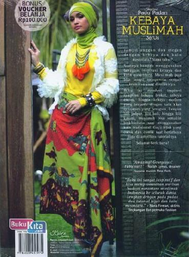 Cover Belakang Buku Inspirasi Padu Padan Kebaya Muslimah