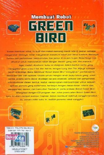 Cover Belakang Buku Membuat Robot Green Bird