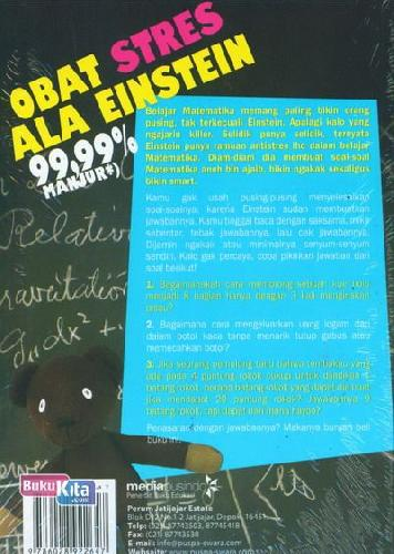 Cover Belakang Buku Obat Stres Ala Einsten 99,99% Manjur