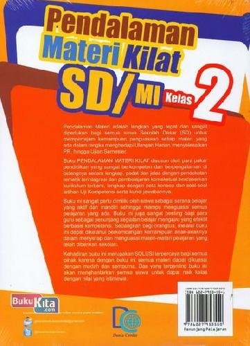 Cover Belakang Buku Pendalaman Materi Kilat SD/MI Kelas 2