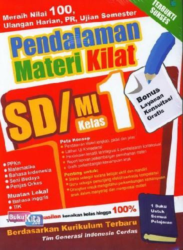 Cover Buku Pendalaman Materi Kilat SD/MI Kelas 1